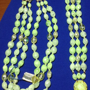 Lisner Necklace and Bracelet set with original tags - Costume Jewelry