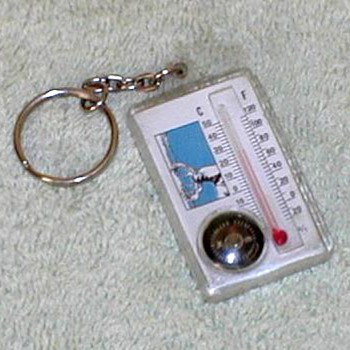 """Elk Woods"" Thermometer/Compass Keychain - Advertising"