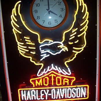 Old Harley clock sign - Signs