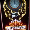 Old Harley clock sign