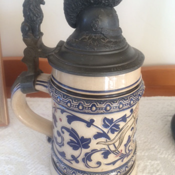 Second late husbands German ?Mettlach Military Beer Stein WW1 - Military and Wartime
