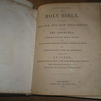 An old Family Bible from 1854 - Books