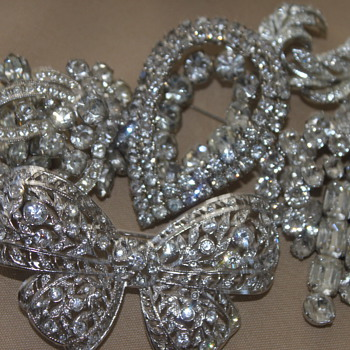 Clear Rhinestones  - Costume Jewelry