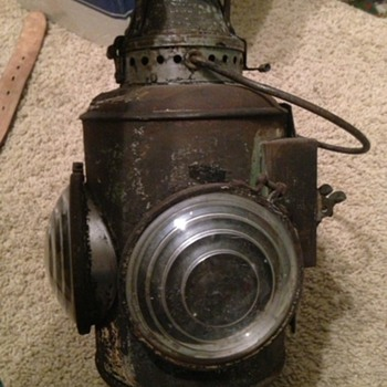 Roscoe and synider and pacific caboose lamp very rare  - Lamps