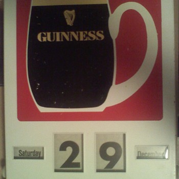 Guinness Mug tin sign calendar