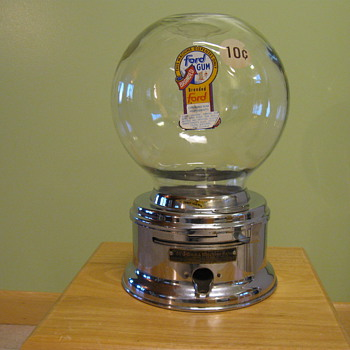 Ford Gum gumball machine - Coin Operated