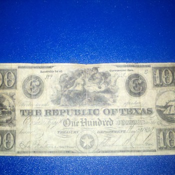 texas money 1839 - US Paper Money