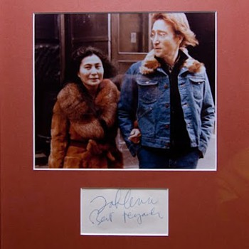 John Lennon autograph - 1975 - Music