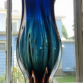 Vacation find #2-Large glass vase - Art Glass