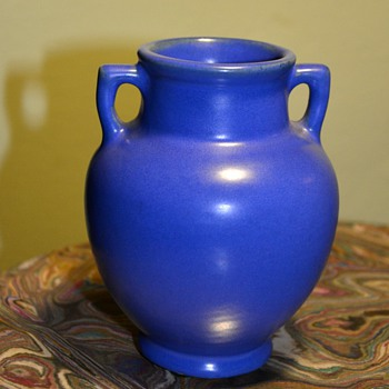 Little Blue Two-handled Pot - Art Pottery
