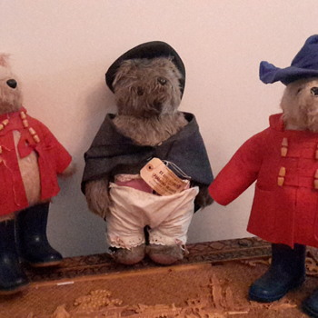 1972 Paddington bear with Aunt Lucy retired bear and friend