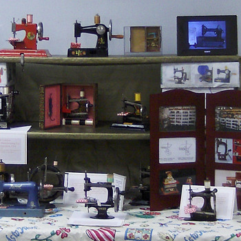 Display of a few Toy and Miniature Sewing Machines - Sewing