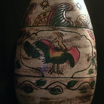 Incised &amp; Carved Japanese Vase