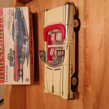 1958 TN Japan Oldsmobile Super 88 NOS Friction Car - Toys