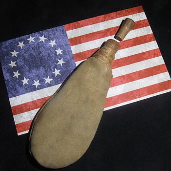 Revolutionary War  .  .  .  Calfskin Shot Pouch