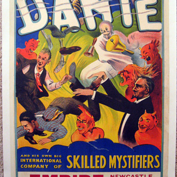 "Original 1937 ""Dante"" Skilled Mystifiers Stone Lithograph Poster - Posters and Prints"