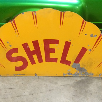 1920's Shell sign single sided