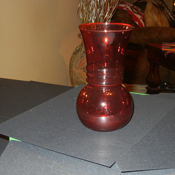 Ruby red Vase? - Glassware