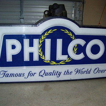 My cool new Philco Radio Sign - Signs