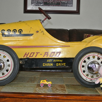1950's Original Hot Rod Racer Pedal Car