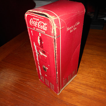 1940s-50s Coca-Cola sample cardboard vending machine sales aid