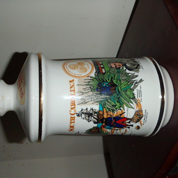 South Carolina Tricentennial Old Fitzgerald Decanter