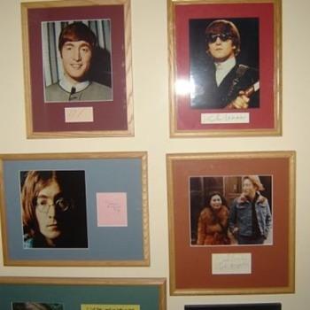 John Lennon autographs...