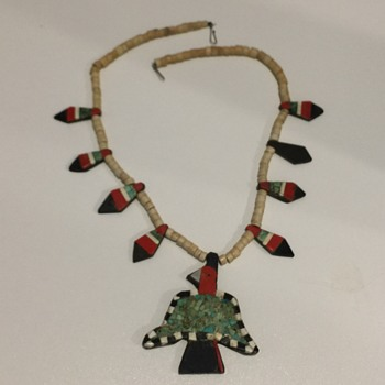 Native American Depression Era Thunderbird Necklace 1940's
