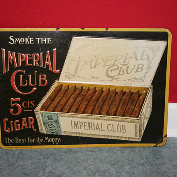 imperial club cigar tin sign - Advertising