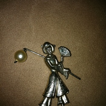 Sterling Silver Pin - Costume Jewelry