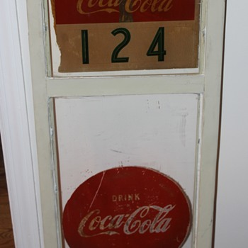 This is from the 1930s a old window sign from Main Street in Ellicott City Maryland - Coca-Cola
