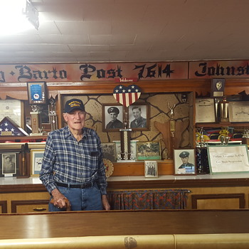 MY UNCLE-AT THE VFW POST THAT HE HELPED BUILD - Military and Wartime