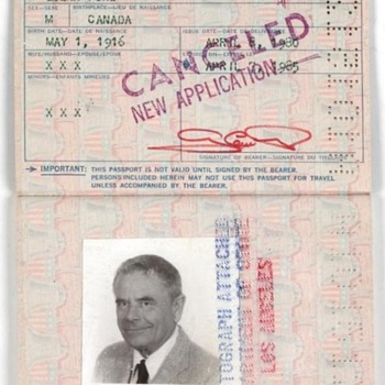 US Passport of Glenn Ford (best known for GILDA & WESTERN)