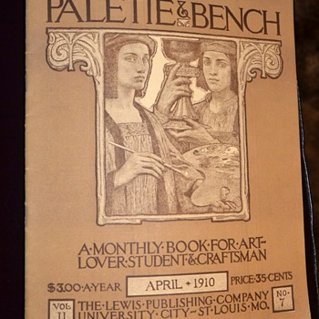 Pallette & Bench - 1910 Magazine on Upscale Country Crafts - Paper