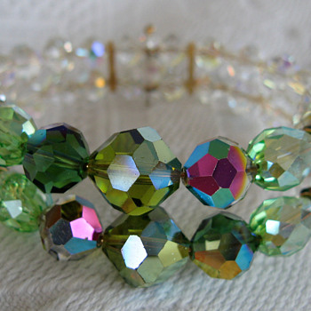 Vendome aurora borealis crystal bracelet - Costume Jewelry