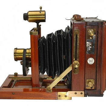 Highly Accessorized Universal Field View Camera, c.1892 - Cameras