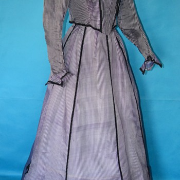 Rare purple pinstripe 1800's Victorian dress...never worn!