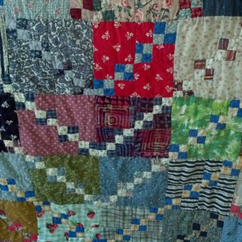 My Grandma's Hand-made Quilt - Folk Art
