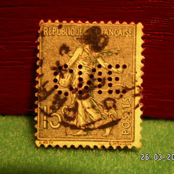 Vintage Republique Francaise 15C Postes Stamp ~ Used - Stamps