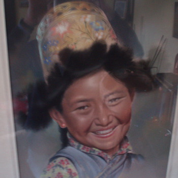 Tibetan Girl by Goray Douglas
