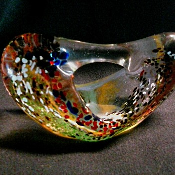Fred Wilkerson Glass Studio, Moundsville West Virginia/Biomorphic Paperweight-Sculpture/Circa 1998 - Art Glass