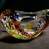 Biomorphic Studio Art Glass Paperweight-Sculpture /Signed Unknown /Circa 1998
