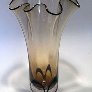 Adam Jablonski Art Glass Vase -- Made in POLAND