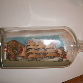 ship in a bottle - Folk Art