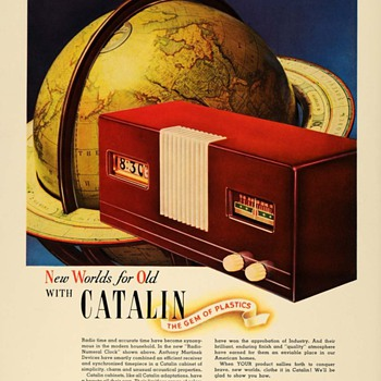 Martinek -Pennwood Clock Radio Ads, 1940 (Catalin and Hamilton Ross) - Radios