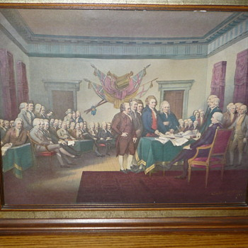 Help Identify declaration of independence 3D Art Artist Walter K. Love - Visual Art