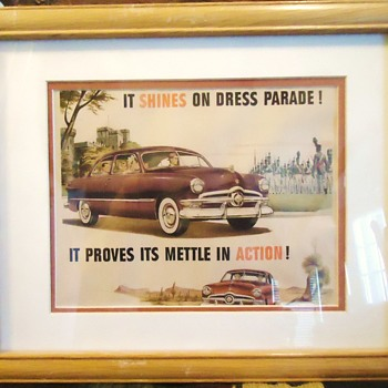 1950 Ford car advertising print - Classic Cars