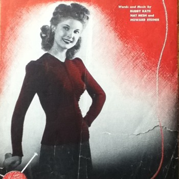 &quot;Look Sweeter in a Sweater&quot; Sheet Music - Paper