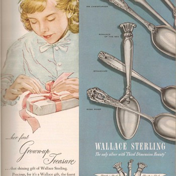 1951 - Wallace Sterling Advertisement - Advertising