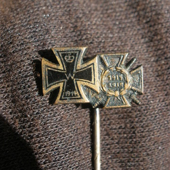 Imperial Iron Cross stickpin with Hindy! 1930s veterans piece.  - Military and Wartime